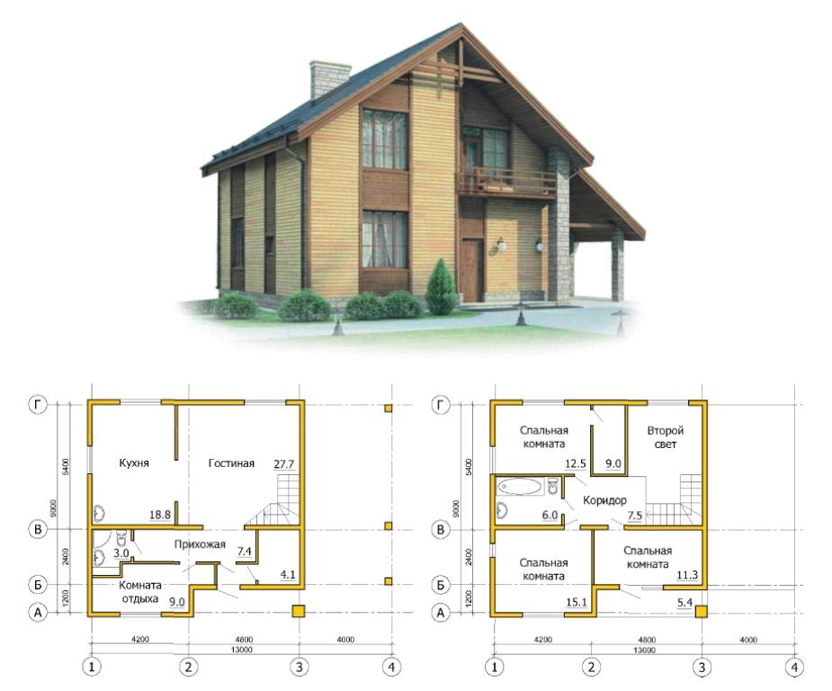 картинки дома с планом для строительства было
